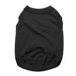 View Image 1 of Barking Basics Dog Tank Shirt - Black