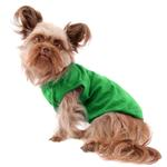 View Image 3 of Barking Basics Dog Tank Shirt - Emerald Green
