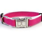 View Image 2 of Preppy in Pink Dog Collar and Leash Set by Diva Dog