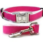 View Image 1 of Preppy in Pink Dog Collar and Leash Set by Diva Dog