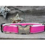 View Image 4 of Preppy in Pink Dog Collar and Leash Set by Diva Dog
