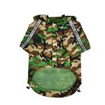 View Image 2 of Base Jumper Windbreaker Dog Coat by Puppia - New Camo