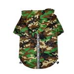 View Image 1 of Base Jumper Windbreaker Dog Coat by Puppia - New Camo