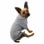 View Image 2 of Basic Dog Hoodie - Heather Gray
