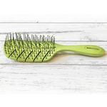 View Image 2 of BASS Brushes Eco-Flex Pet Detangler Dog Hair Brush - Green Leaf