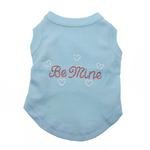 View Image 1 of Be Mine Rhinestone Dog Tank - Baby Blue