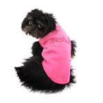 View Image 4 of Be Mine Rhinestone Dog Tank - Bright Pink