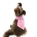 View Image 3 of Be Mine Rhinestone Dog Tank - Light Pink