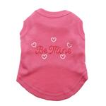 View Image 1 of Be Mine Rhinestone Dog Tank - Bright Pink