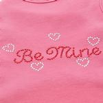View Image 2 of Be Mine Rhinestone Dog Tank - Bright Pink