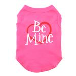 View Image 1 of Be Mine Screen Print Dog Tank - Bright Pink