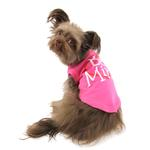 View Image 2 of Be Mine Screen Print Dog Tank - Bright Pink