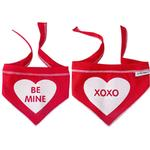 View Image 1 of Be Mine/XOXO Reversible Dog Scarf - Red