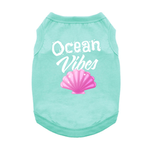 View Image 1 of Ocean Vibes Dog Shirt - Teal