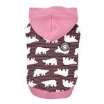 View Image 2 of Beale Hooded Dog Shirt By Puppia - Pink