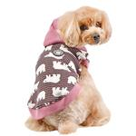 View Image 1 of Beale Hooded Dog Shirt By Puppia - Pink