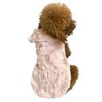 View Image 1 of Bella Luxury Faux Fur Dog Coat - Blush