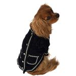 View Image 1 of Doggie Coco Luxury Dog Jacket by The Dog Squad - Black and White