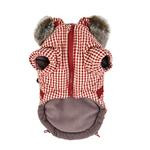 View Image 3 of Bellamy Hooded Dog Vest by Puppia - Burgundy