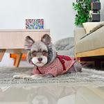 View Image 6 of Bellamy Hooded Dog Vest by Puppia - Burgundy