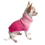View Image 2 of Beverly Hills Luxury Sparkle Dog Sweater by The Dog Squad -  Fuchsia Dip Dye
