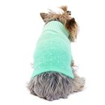 View Image 1 of Beverly Hills Luxury Sparkle Dog Sweater by The Dog Squad -  Seafoam Dip Dye