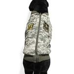 View Image 2 of Big Dog Bomber Camo Dog Vest by Gooby - Green