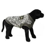 View Image 1 of Big Dog Bomber Camo Dog Vest by Gooby - Green
