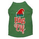 View Image 1 of Big Elf Christmas Dog T-Shirt - Green