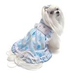 View Image 3 of Birthday Balloons Hand-Smocked Dog Dress by Oscar Newman