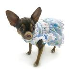 View Image 4 of Birthday Balloons Hand-Smocked Dog Dress by Oscar Newman