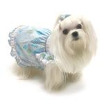 View Image 2 of Birthday Balloons Hand-Smocked Dog Dress by Oscar Newman