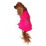 View Image 2 of Birthday Girl Cupcake Rhinestone Dog Dress - Raspberry Pink