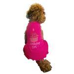 View Image 3 of Birthday Girl Cupcake Rhinestone Dog Dress - Raspberry Pink