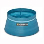 View Image 1 of Bivy Travel Dog Bowl By RuffWear - Blue Spring