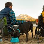 View Image 2 of Bivy Travel Dog Bowl By RuffWear - Blue Spring