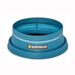 View Image 3 of Bivy Travel Dog Bowl By RuffWear - Blue Spring