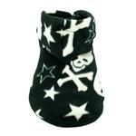 View Image 1 of Black Skull Polar Fleece Dog Hoodie by Hip Doggie