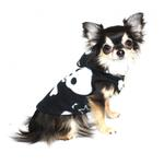 View Image 3 of Black Skull Polar Fleece Dog Hoodie by Hip Doggie