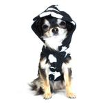 View Image 4 of Black Skull Polar Fleece Dog Hoodie by Hip Doggie