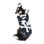 View Image 2 of Black Skull Polar Fleece Dog Hoodie by Hip Doggie