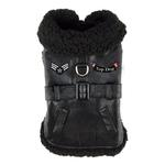 View Image 1 of Top Dog Flight Harness Coat by Doggie Design - Black