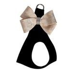 View Image 1 of Champagne Glitzerati Nouveau Bow Step-In Dog Harness by Susan Lanci - Black