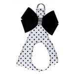 View Image 1 of Black & White Nouveau Bow Polka Dot Step-In Dog Harness by Susan Lanci - Black Bow