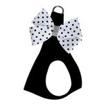 View Image 1 of Black & White Nouveau Bow Polka Dot Step-In Dog Harness by Susan Lanci - Polka Dot Bow