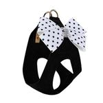View Image 2 of Black & White Nouveau Bow Polka Dot Step-In Dog Harness by Susan Lanci - Polka Dot Bow