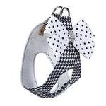 View Image 2 of Houndsthooth Polka Dot Nouveau Bow Polka Dot Step-In Dog Harness by Susan Lanci