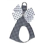 View Image 1 of Houndsthooth Polka Dot Nouveau Bow Polka Dot Step-In Dog Harness by Susan Lanci