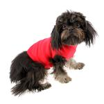 View Image 2 of Blank Ribbed Dog Tank - Red