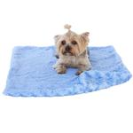 View Image 1 of Paisley Dog Blanket by The Dog Squad - Blue